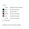 airvent SM 1000+ surface mounted trickle vent colour chart