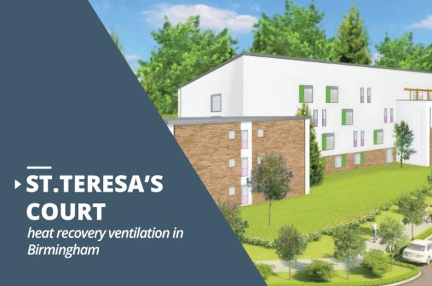 St.Teresa's Court heat recovery ventilation project Birmingham