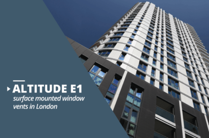 Altitude E1 surface mounted window vents project in London