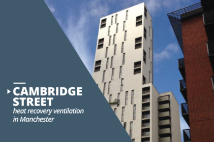 Cambridge Street building heat recovery ventilation project in Manchester