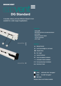 airvent DG Standard glazed in window vent brochure